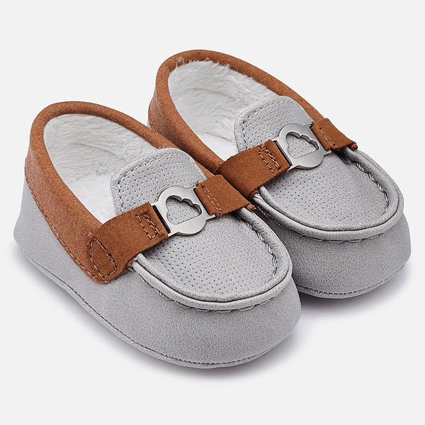 Mayoral Baby Boys Grey & Brown Loafers 9919