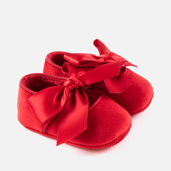 Mayoral Baby Girl Red Bow Pram Shoes 9930