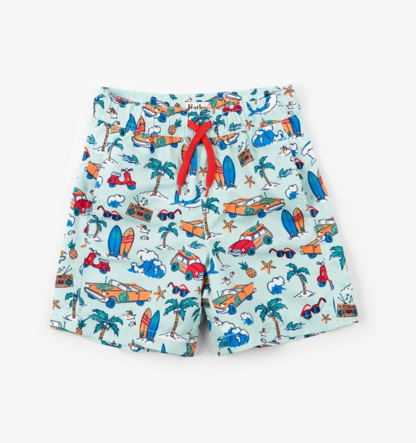 SS18 Hatley Boys Surf Island Swimming Shorts