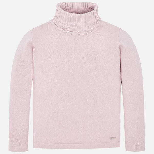 AW19 Mayoral Girls Nude Roll Neck Knitted Jumper 313