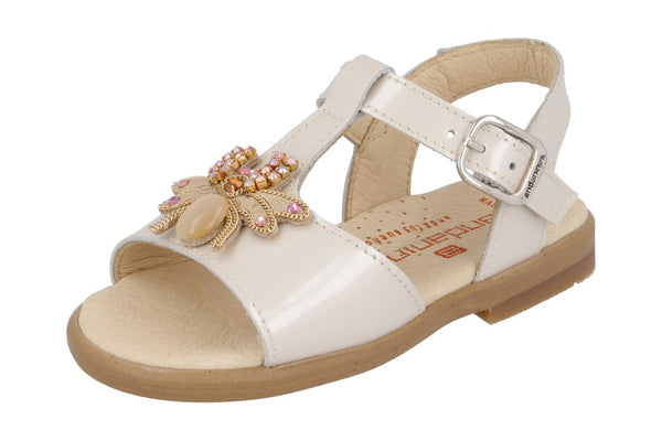 Andanines Camel 'Gucci' Inspired Bee Leather Sandals