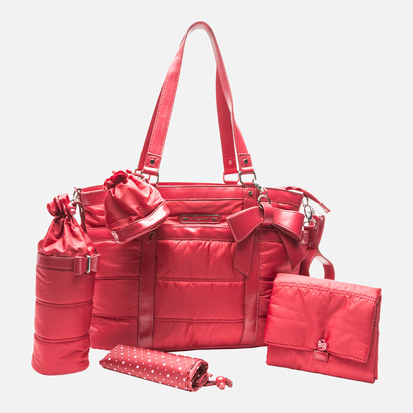 Mayoral Baby Changing Bag with Accessories- Red 19550 - Liquorice Kids