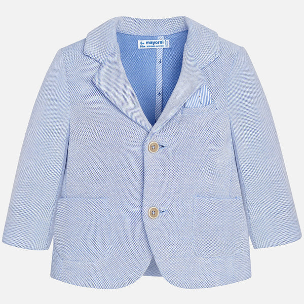 SS18 Mayoral Toddler Boys Baby Blue Blazer and Shorts Set