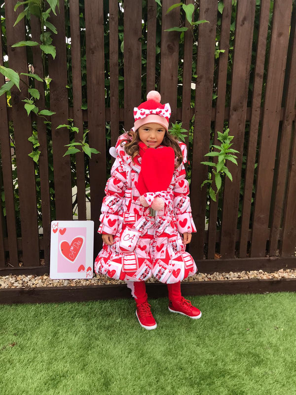 PRE-ORDER AW20 A Dee Girls Emma Queen Of Hearts Coat