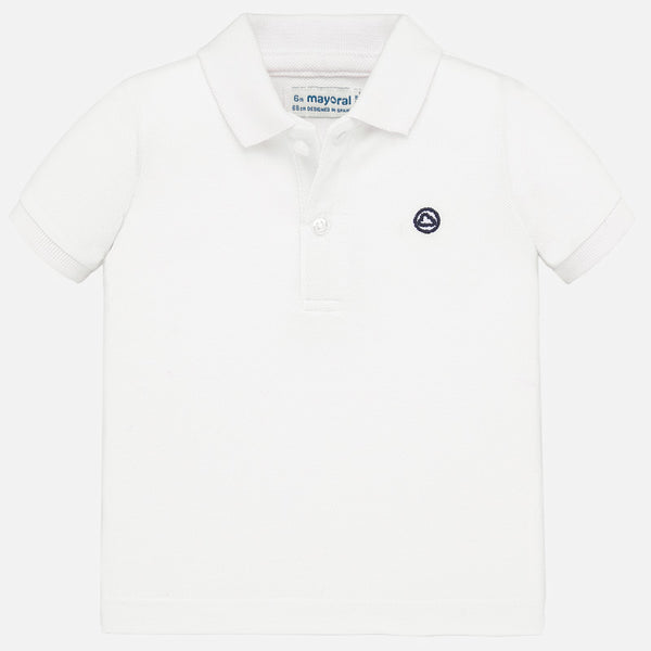 SS20 Mayoral Toddler Boys White Polo Top 102