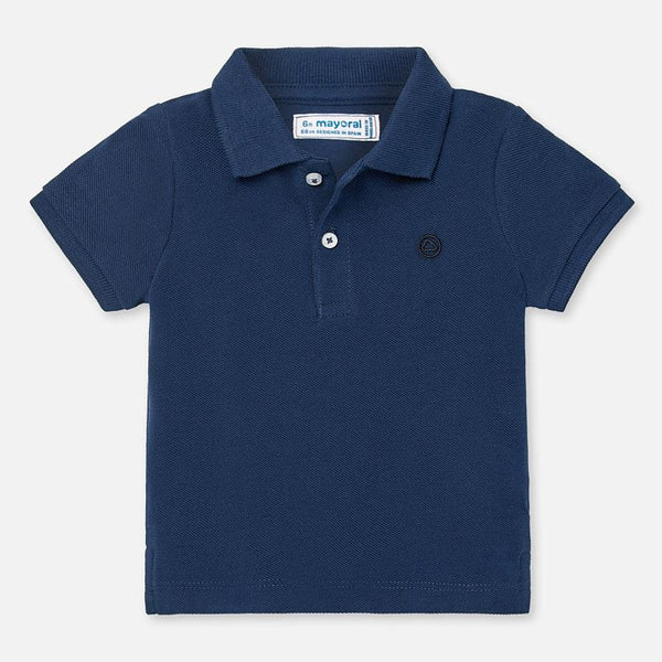 SS20 Mayoral Toddler Boys Navy Blue Polo Top 102