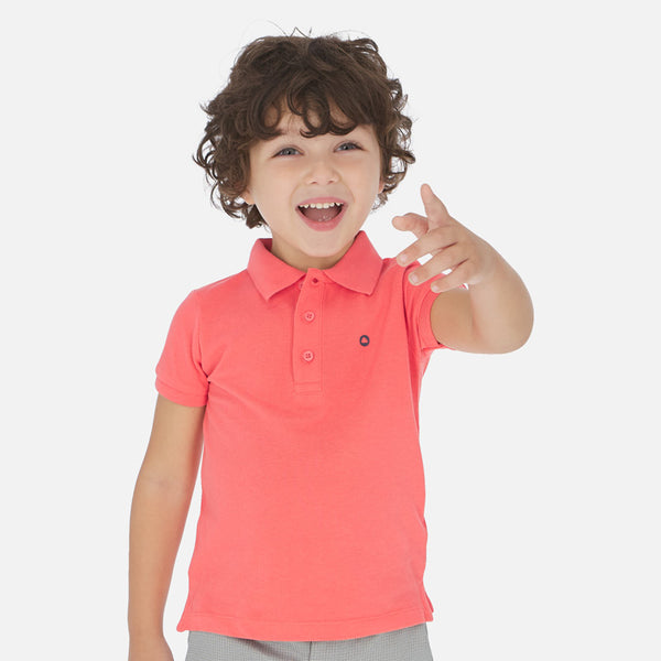 SS20 Mayoral Boys Coral Polo Top 150