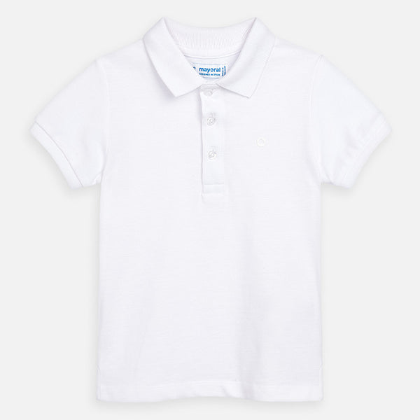 SS21 Mayoral Boys White Polo Top 150