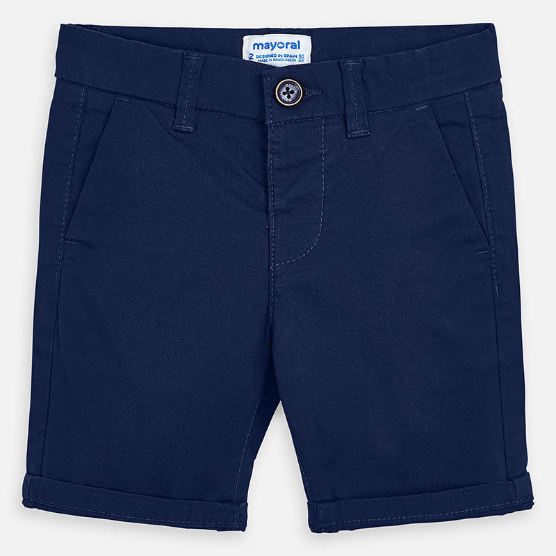 SS20 Mayoral Boys Navy Blue Chino Shorts 202