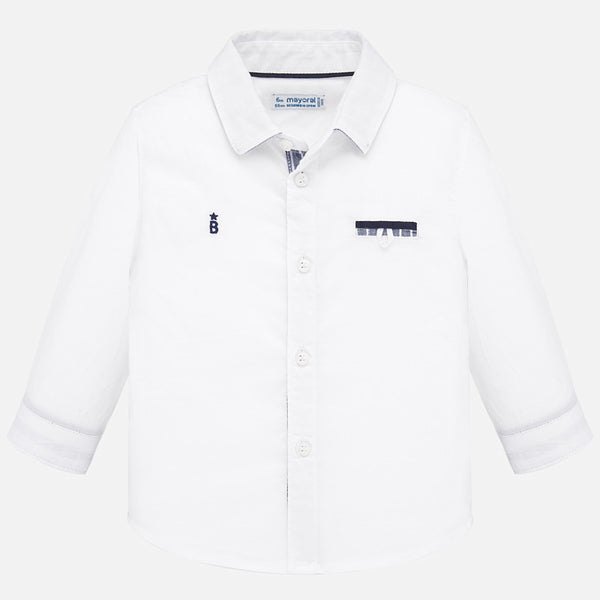 SS20 Mayoral Toddler Boys White Shirt 1164