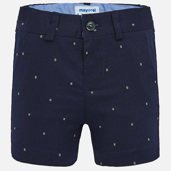 SS20 Mayoral Toddler Boys Navy Blue Patterned Shorts 1279