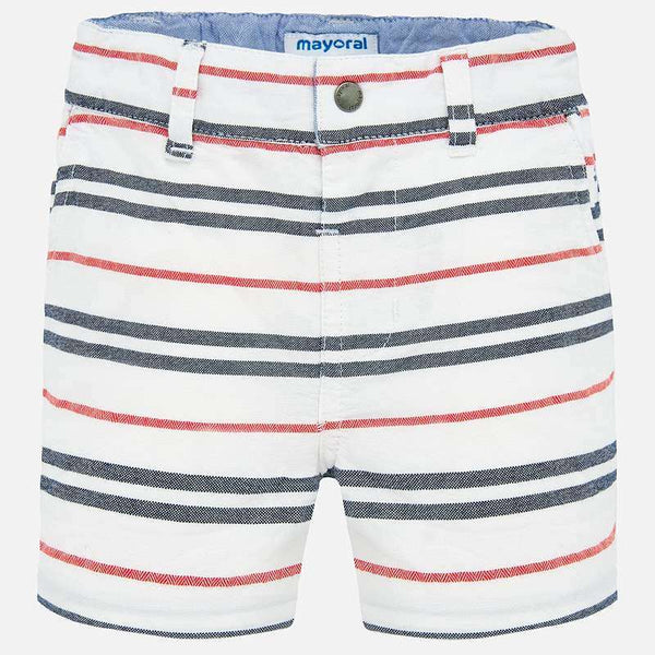 SS20 Mayoral Toddler Boys White, Red & Blue Shorts 1287
