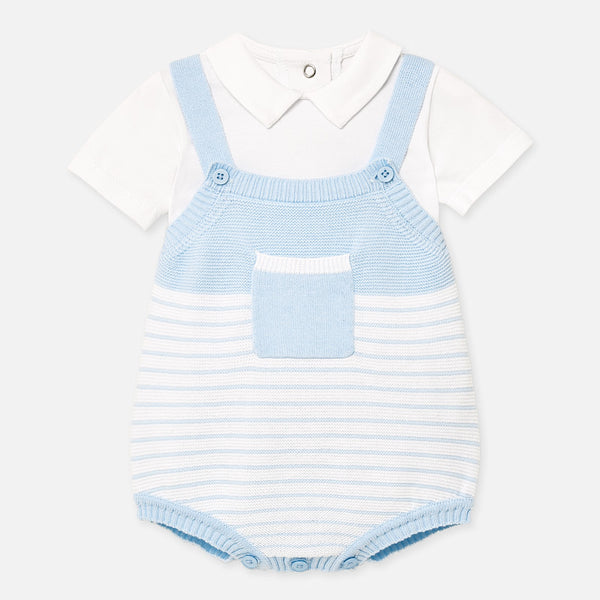 SS20 Mayoral Baby Boys Blue Romper Set 1662