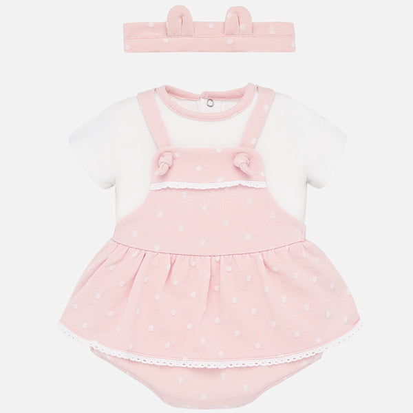 SS20 Mayoral Baby Girls Pink Romper Set 1683