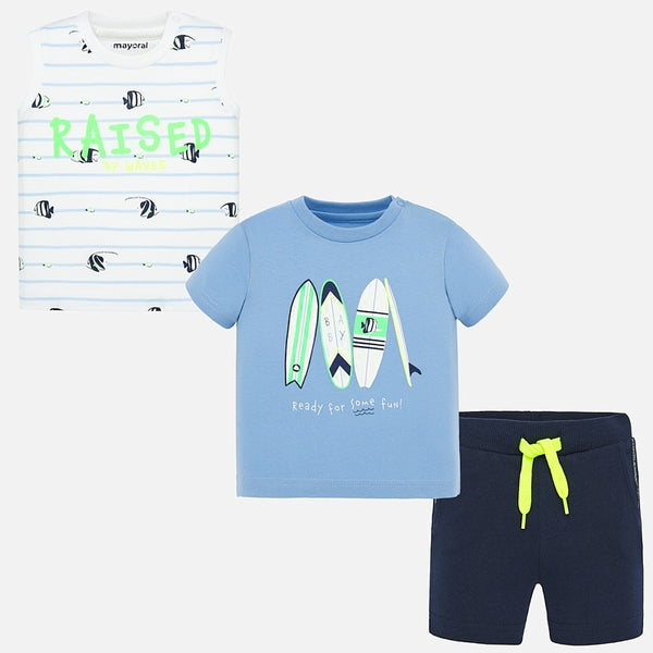 SS20 Mayoral Toddler Boys Blue Short Set 1691