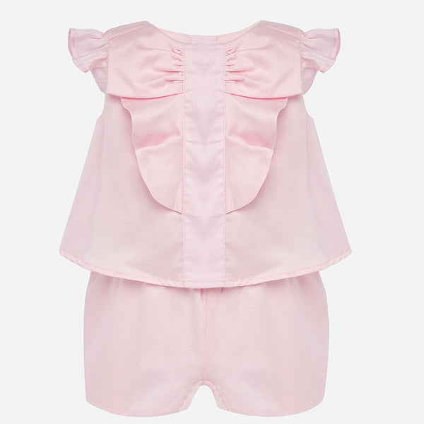 SS20 Mayoral Toddler Girls Pink Ruffle Romper 1894