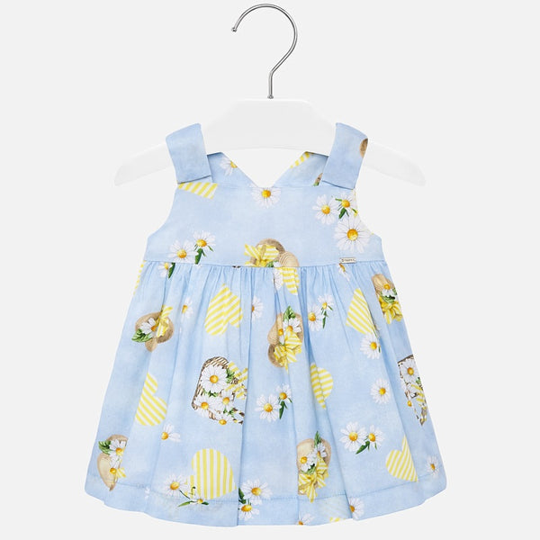 SS20 Mayoral Toddler Girls Blue Summer Daisies Dress 1931