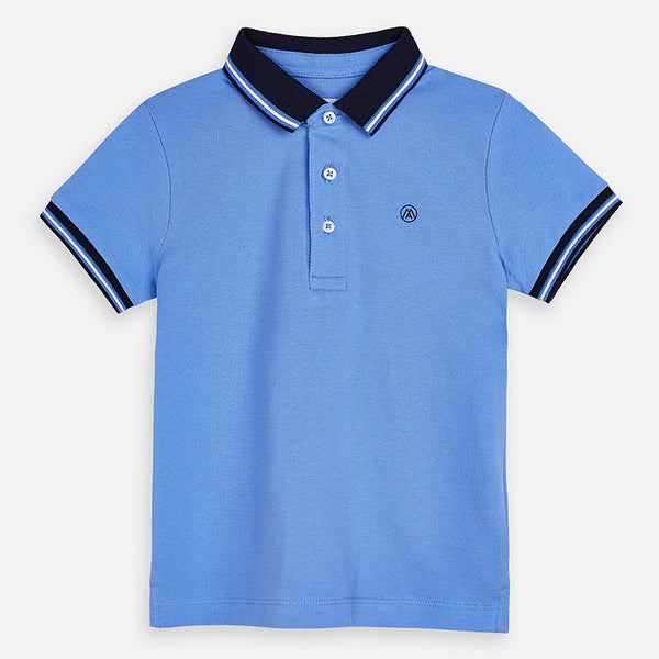 SS20 Mayoral Boys Blue Polo Top 3150
