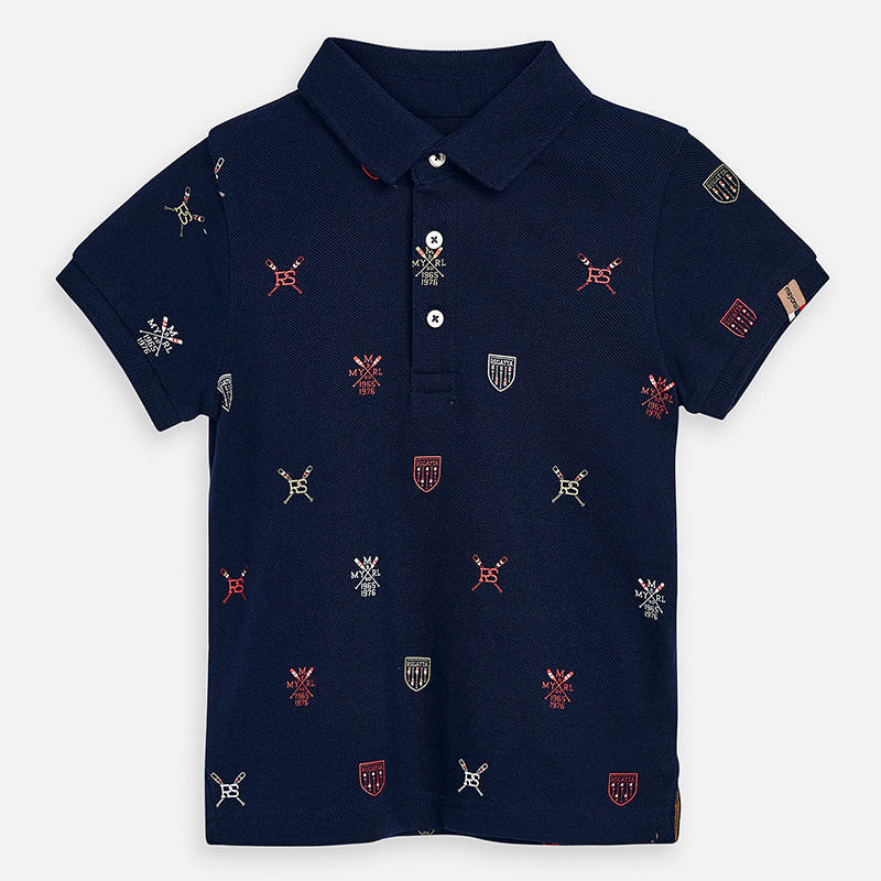 SS20 Mayoral Boys Navy Blue Regatta Polo Top 3152