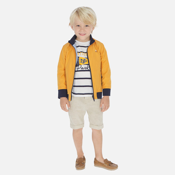 SS20 Mayoral Boys Beige Linen Shorts 3253
