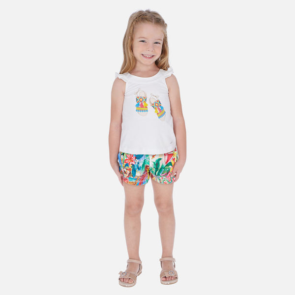 SS20 Mayoral Girls Tropical Short Set 3290
