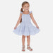 SS20 Mayoral Girls Blue & White Daisy Print Dress 3953