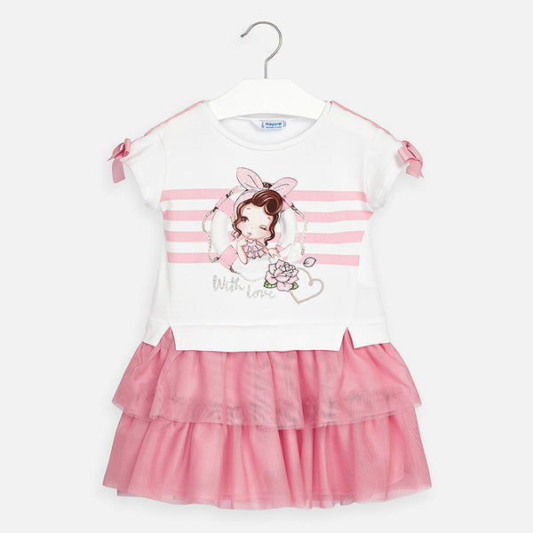 SS20 Mayoral Girls Pink Sailor Dress 3958