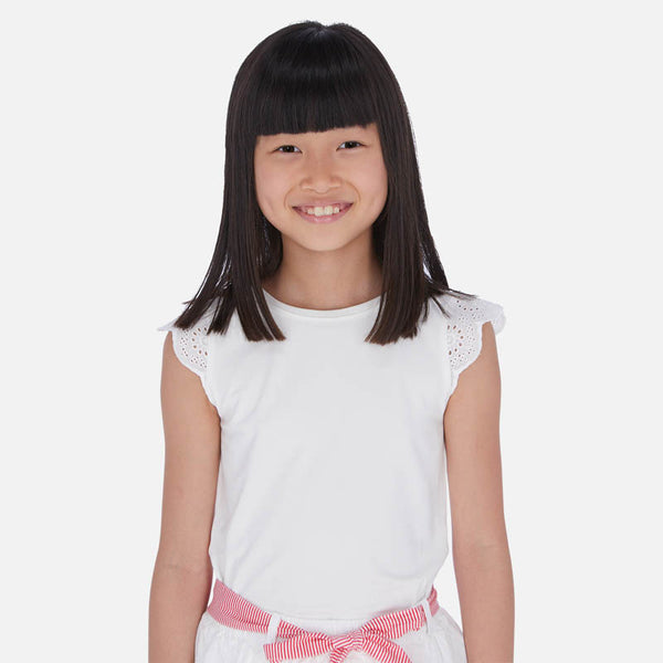 SS20 Mayoral Older Girls White Top 6030