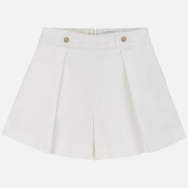 SS20 Mayoral Older Girl Ivory Shorts 6250