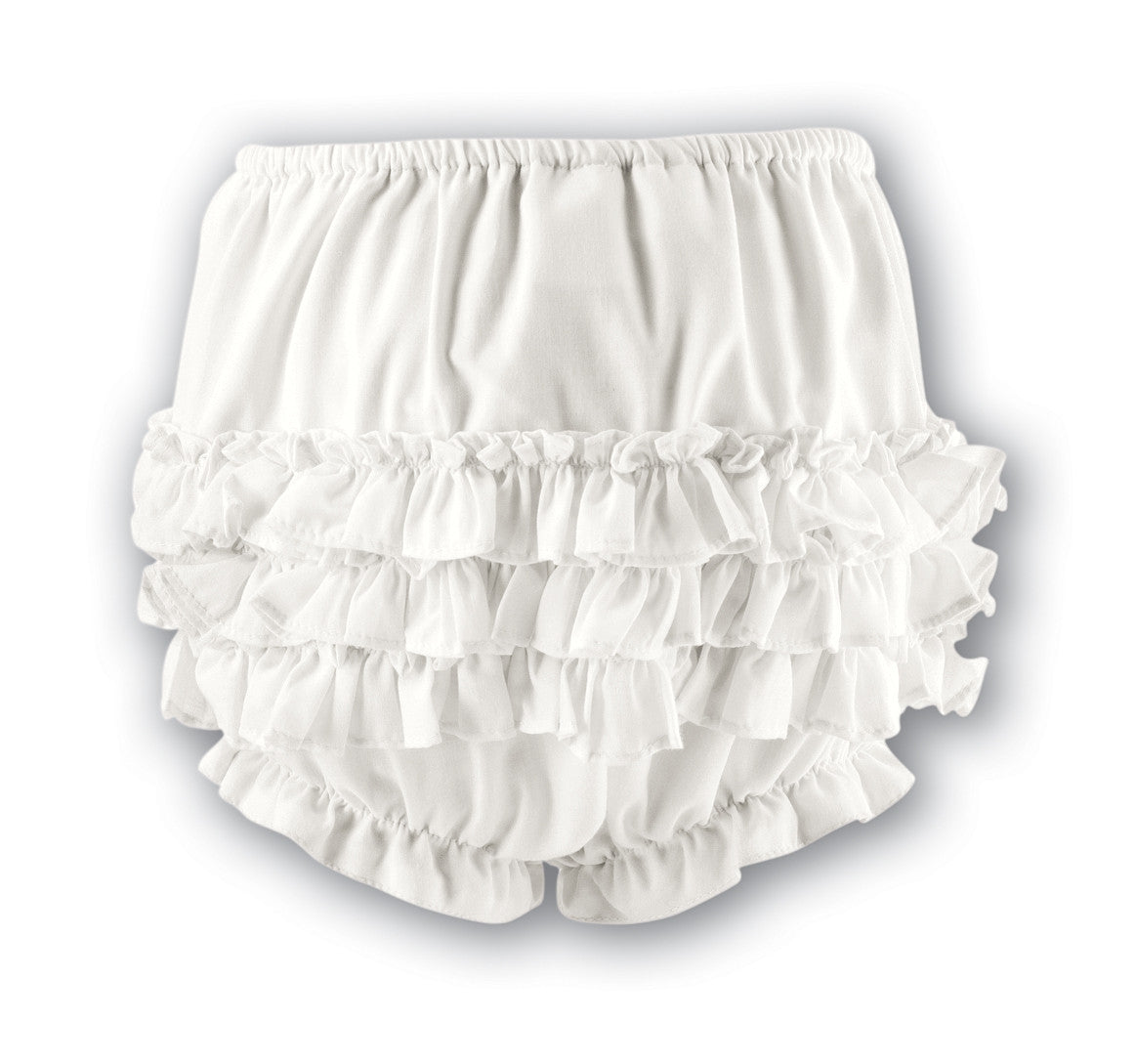 Sarah Louise 760 Cream Frilly Ruffled Knickers – Liquorice Kids 67ccf0358