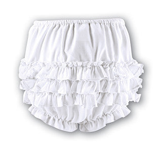 Sarah Louise  760 White Frilly Ruffled Knickers