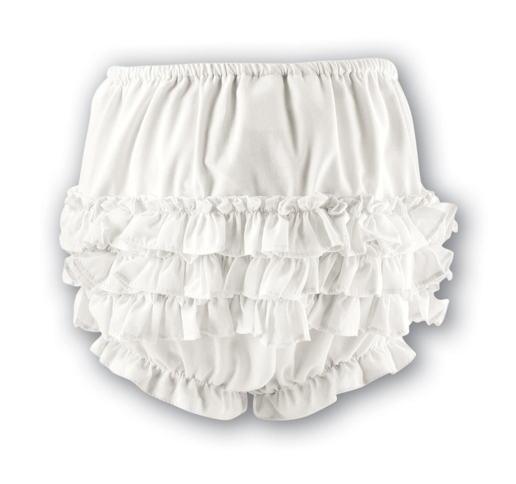 Sarah Louise 760 Cream Frilly Ruffled Knickers