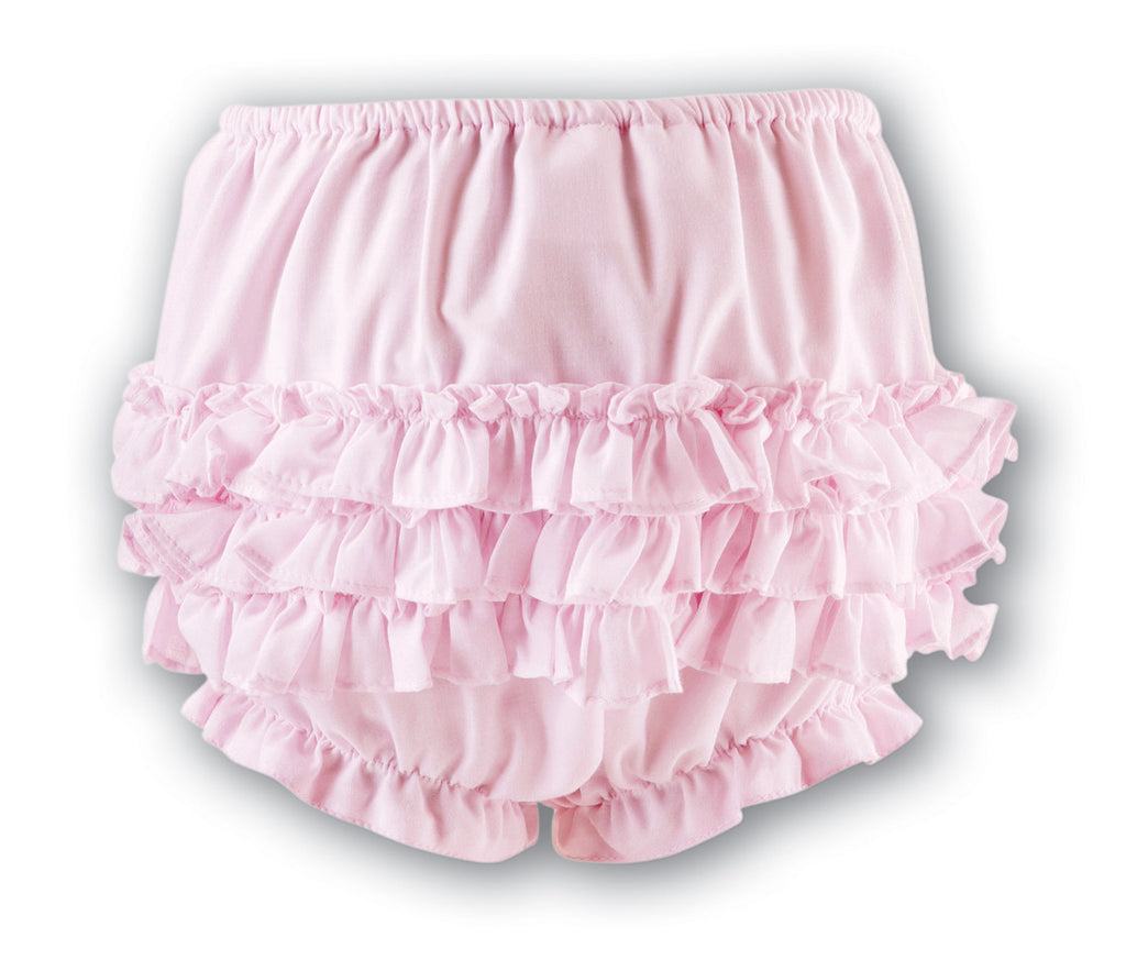 Sarah Louise 760 Pale Pink Frilly Ruffled Knickers