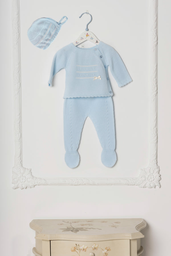 AW18 Dolce Petit Baby Blue Knitted Set 2010-C