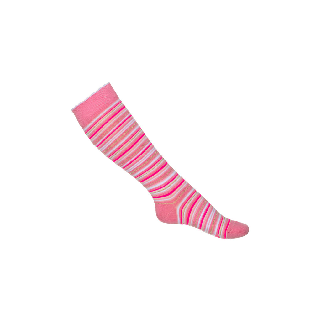 SS19 Mim-Pi Girls Pink Stripe Knee-High Socks 201