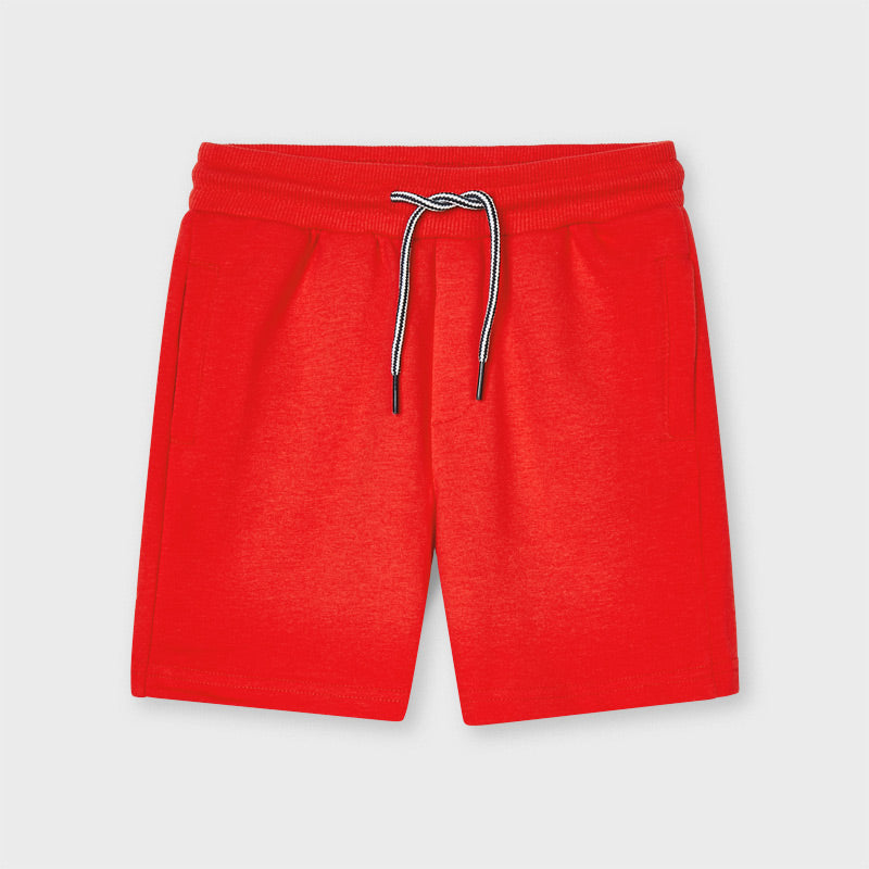 SS21 Mayoral Boys Red Jersey Shorts 611