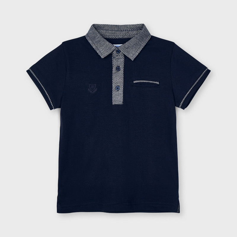 SS21 Mayoral Boys Navy Blue Polo Top 3110