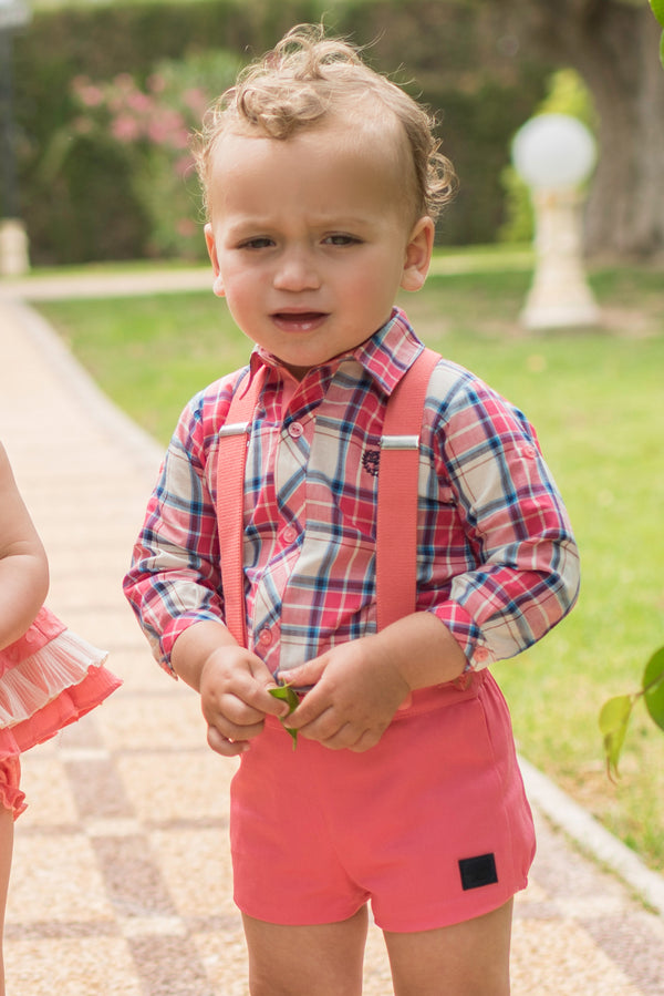 SS20 Dolce Petit Baby Boys Coral Shorts Set 2134-23L