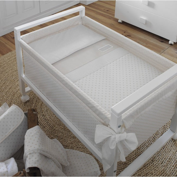 Cambrass Ivory Stars Wooden Frame Crib