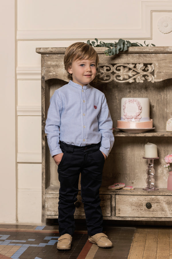 AW18 Dolce Petit Boys Navy Blue Trouser Set 2203-23