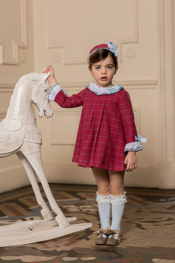 AW18 Dolce Petit Girls Blue & Raspberry Dress 2209-V