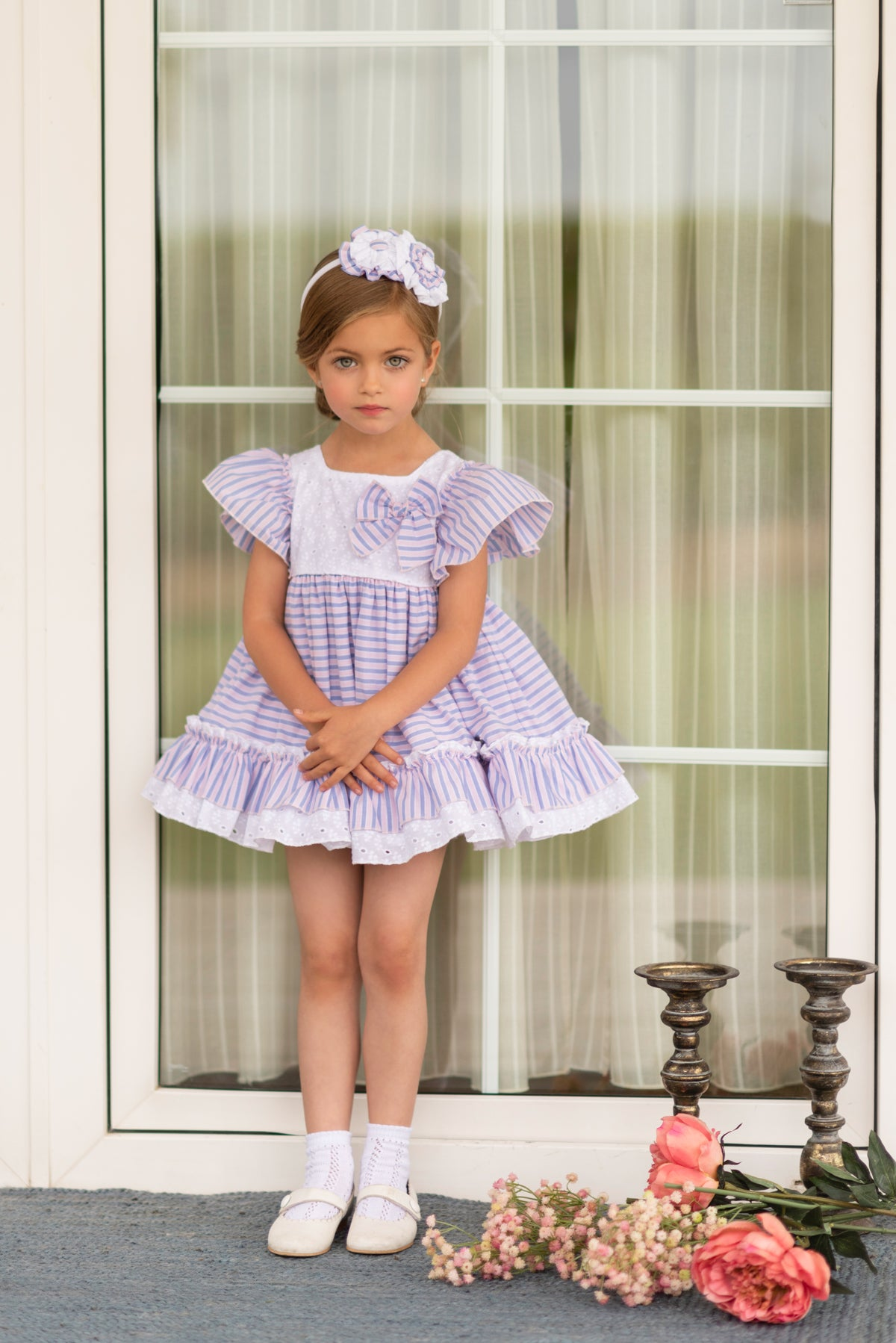 399836e963 SS19 Dolce Petit Girls Pink & Lavender Blue Stripe Dress 2233-V – Liquorice  Kids