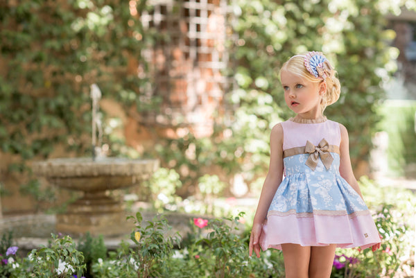 SS20 Dolce Petit Girls Pink & Blue Dress 2252-V