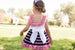 SS20 Dolce Petit Girls Navy Blue, Red & White Stripe Dress 2279-V