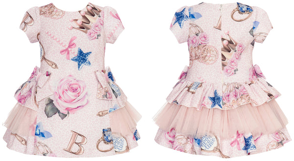 AW20 Balloon Chic Girls Pink 'Once Upon A Time' Dress