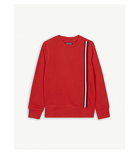 SS18 Tommy Hilfiger Boys Red Long Sleeve Cotton Sweatshirt