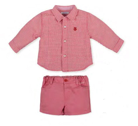 SS17 Tutto Piccolo Boys Red Shirt and Shorts Set 2010/2310