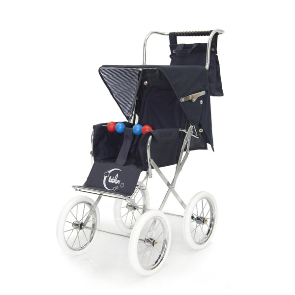 Spanish Navy Cotton Changing Bag For Dolls 'Prams'