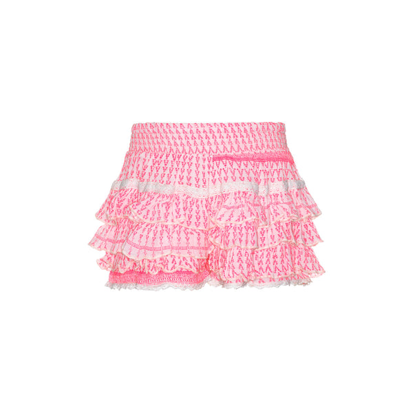 SS19 Mim-Pi Girls Pink & White Shorts 234