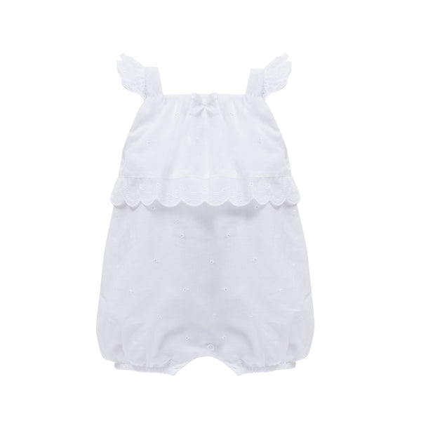 SS18 Patachou Baby Girls White Lace Romper